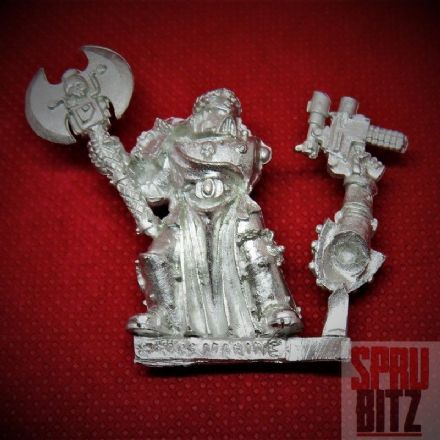 Space Marine Veteran with Power Axe (metal)